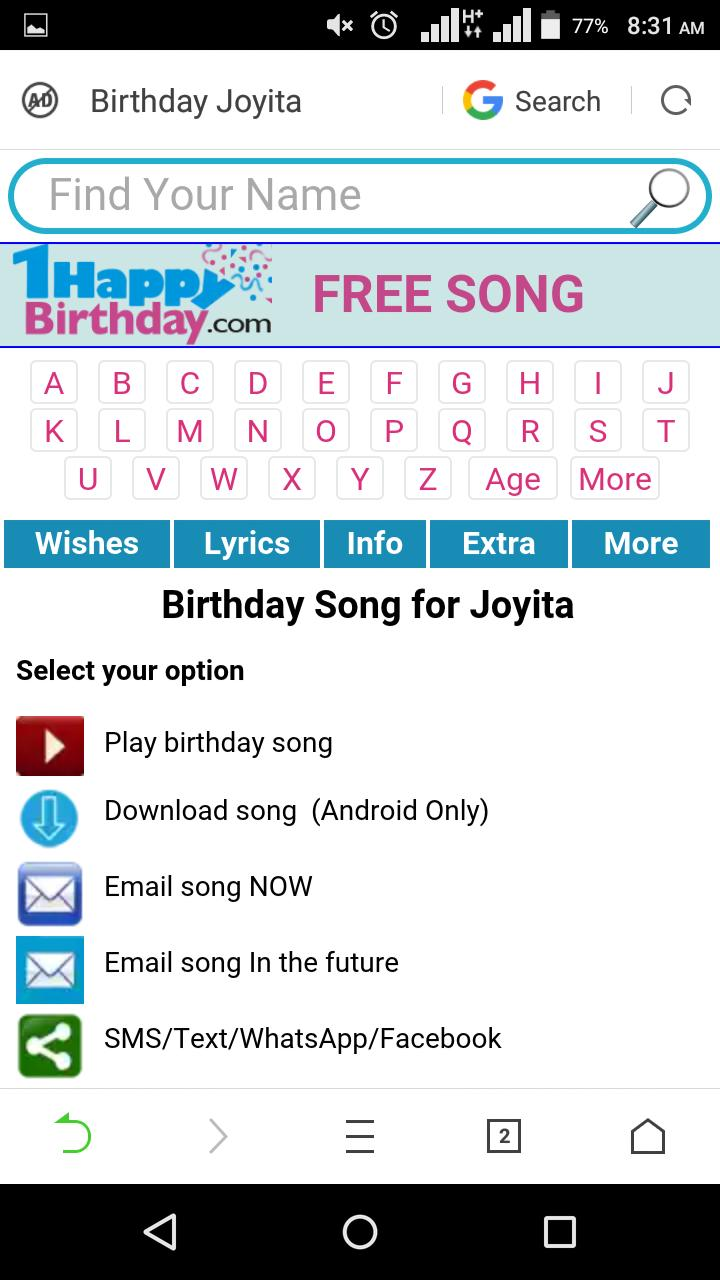 Birthday Song With Name Maker for Android - APK Download