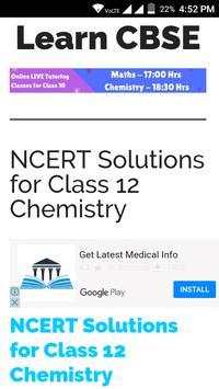 CBSE CLASS 12 CHEMISTRY poster