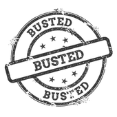 Busted icon