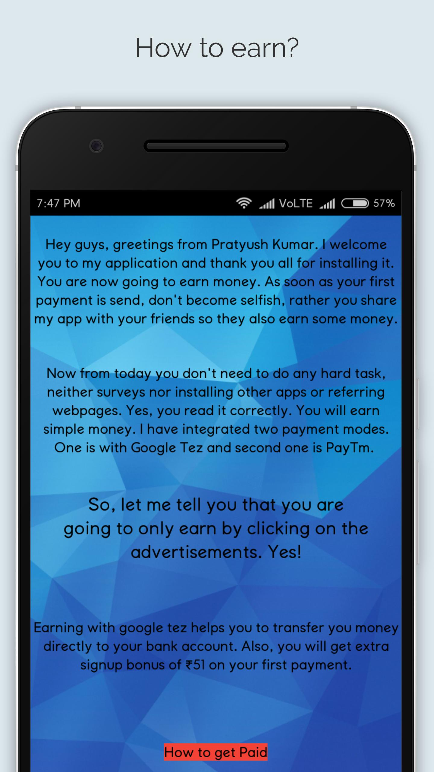 Earn Tez Money : Daily PayTM money for Android - APK Download