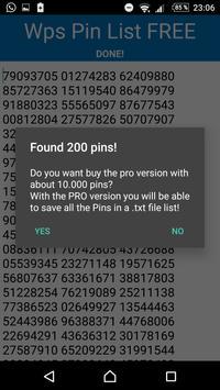 Wps Pin List FREE apk screenshot