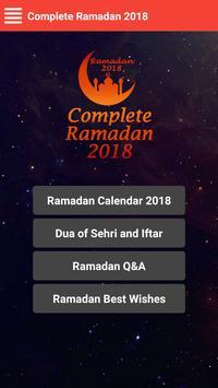 Complete Ramadan 2018 ( Calendar,Best Wishes,Q&A ) poster
