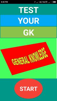 Test Your GK poster