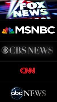 MSNBC FOX CBS CNN ABC NBC News poster