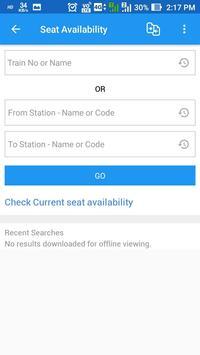 Rail Seva-PNR enquiry,Train status and more screenshot 3