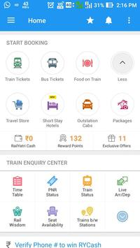 Rail Seva-PNR enquiry,Train status and more screenshot 1