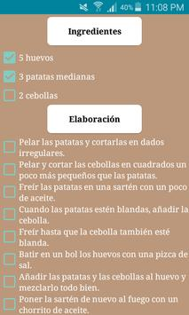 Recetas de cocina española screenshot 1