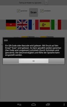 Talking QR-Reader (free) apk screenshot