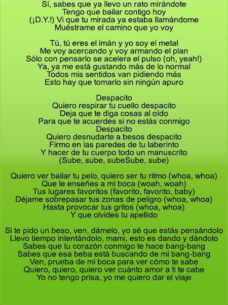 Translation lyrics Despacito for Android - APK Download