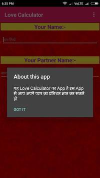 Love Calcyulator screenshot 1