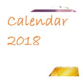 Calendar 2018 India icon