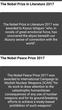 Nobel Winners 2017 apk screenshot
