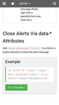 Bootstrap Tutorials For Beginners apk screenshot