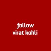follow Virat Kohli icon