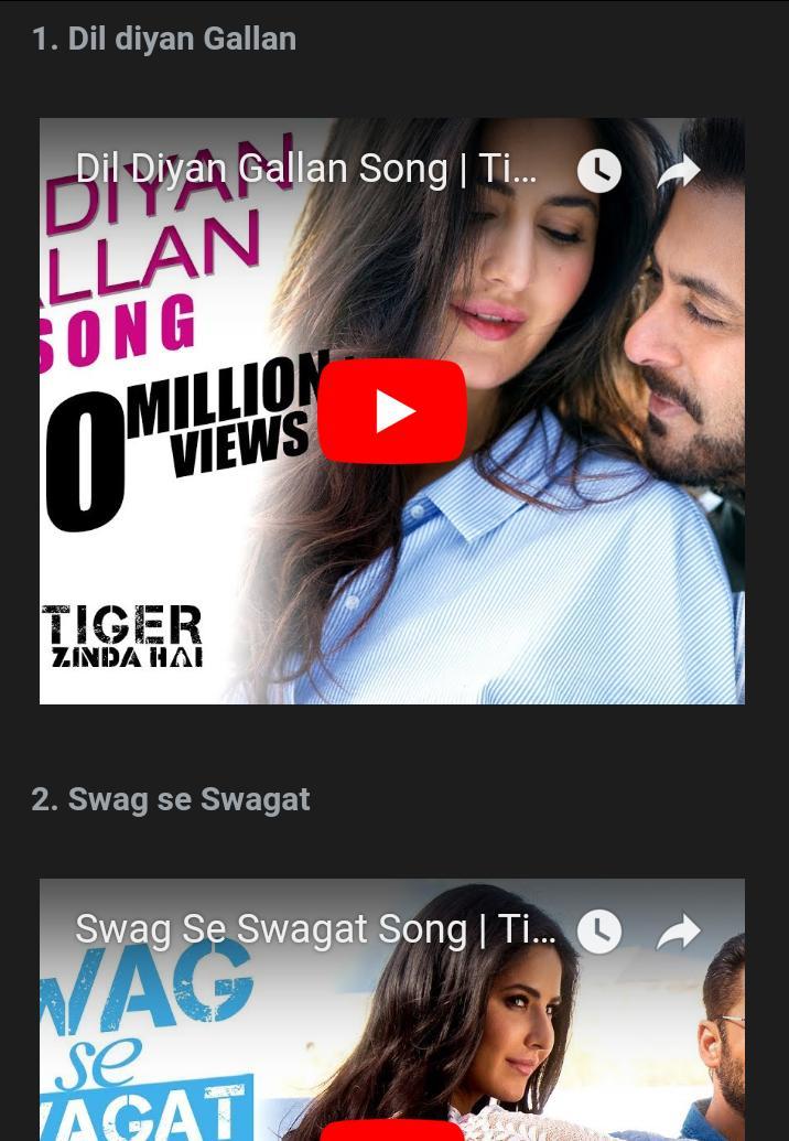 tiger 2 film song download