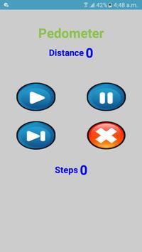 Pedometer Count Steps & Calculate distance poster