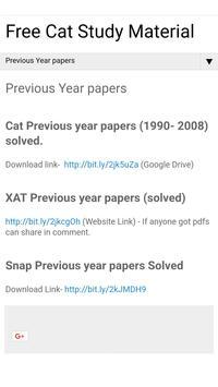 Free CAT Exam Study Material poster