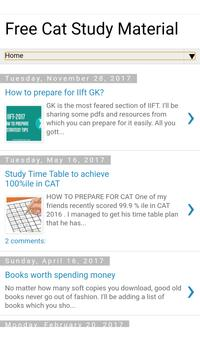 Free CAT Exam Study Material screenshot 1