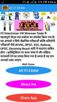 All ITI EXAM poster