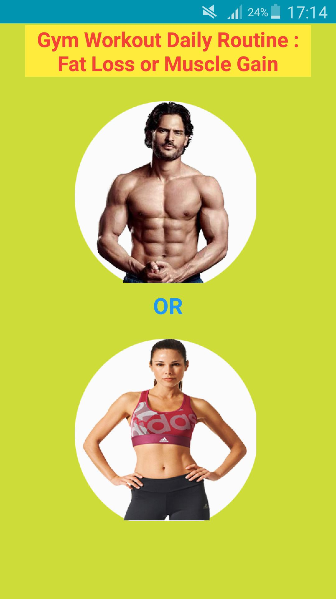 Gym Workout Daily Routine Fat Loss Or Weight Gain For Android Apk