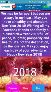 Happy New Year Wishes & SMS screenshot 1