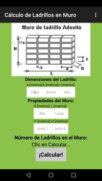 Calcular Ladrillos Muro poster