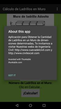 Calcular Ladrillos Muro apk screenshot
