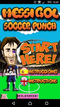 Messi Soccer Punch poster