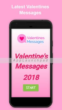 Valentines Messages 2018 poster