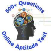 Online aptitude test and preparation,500+questions icon