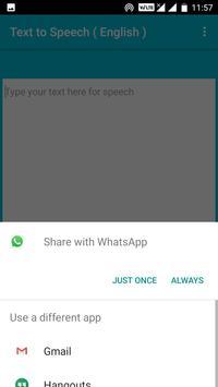 Text to Speech ( English ) screenshot 1