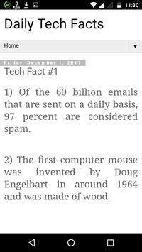 Daily Tech facts apk screenshot