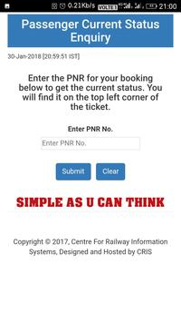 Correct PNR Status apk screenshot