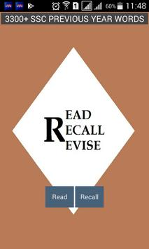 READ RECALL REVISE poster