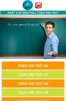TOEIC 990 FULL TEST Part 2 poster