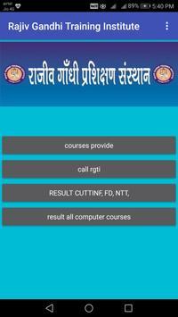 Rajiv Gandhi Training Institute poster