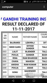 Rajiv Gandhi Training Institute apk screenshot