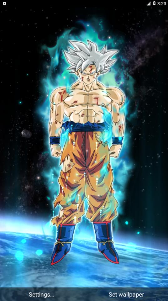 Goku Mastered Ultra Instinct Live Wallpaper 3d For Android Apk Download