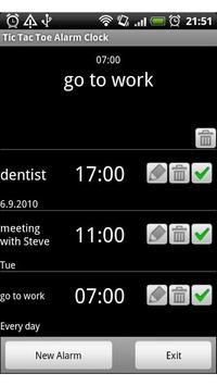 Tic Tac Toe Alarm Clock Lite poster