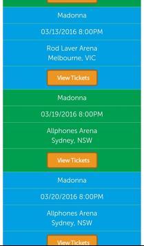 Madonna Tickets screenshot 1