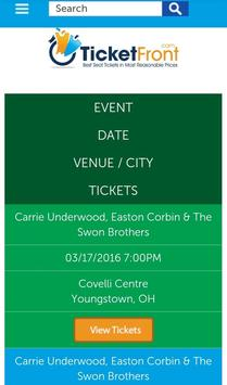 Carrie, Easton & Swon Tickets screenshot 1