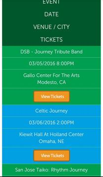 Journey & Doobie Tickets screenshot 1