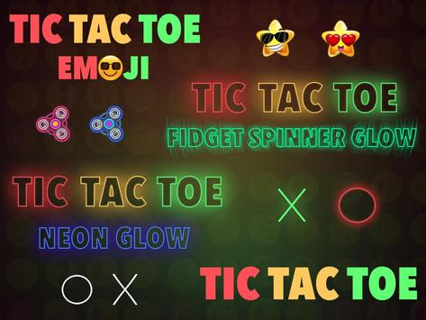Tic Tac Toe : Neon, Glow And Emoji Themes poster