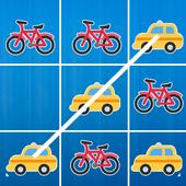 Tic Tac Toe - Car Vs Bicycle icon