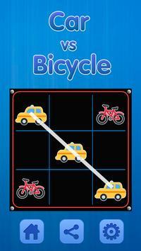 Tic Tac Toe - Car Vs Bicycle poster