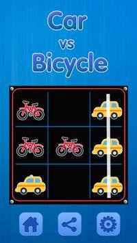 Tic Tac Toe - Car Vs Bicycle screenshot 4