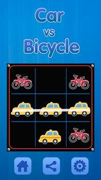 Tic Tac Toe - Car Vs Bicycle screenshot 6