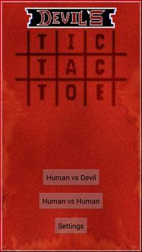 Devil's tic tac toe poster