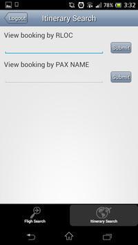Worldspan Booking App apk screenshot