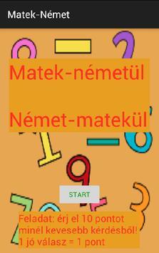 Matek németül - Német matekül poster